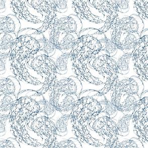 Inkblot Jellyfish Flock (smallscale) Indigo