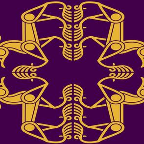 Style II D - Animal - purple & gold