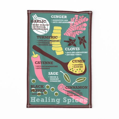 Healing Spices Tea Towel