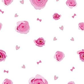 Hand drawn pink beauty roses. Baby girl wallpaper seamless pattern s6 kopyas