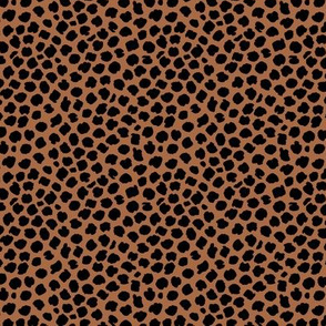 Giraffe animal print abstract boho ink drops russet rust copper brown black Small