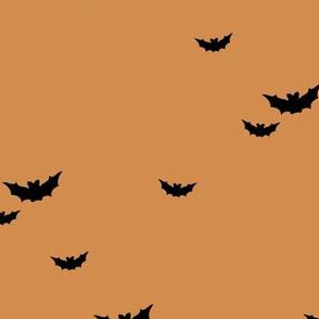 Little bats in the sky halloween fall autumn design kids neutral nursery design burnt orange