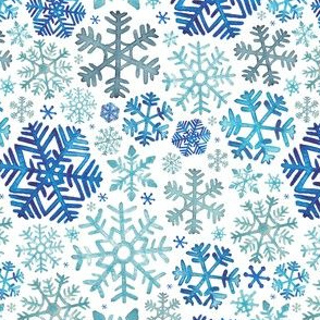 (1 inch) snowflakes