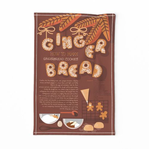 Gingerbread recipe towel