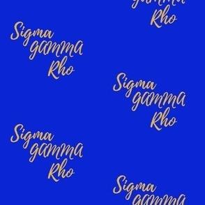 Sigma Gamma Rho small print
