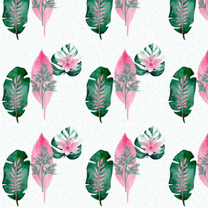 Pink and Green Fronds