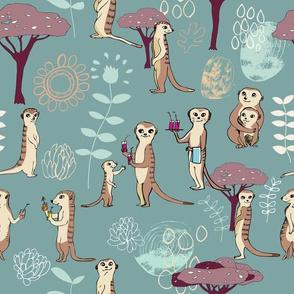 Happy Meerkats Turquoise