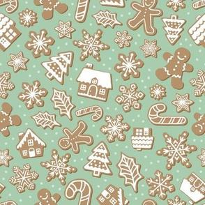 Gingerbread Cookies - Medium Scale 8x8