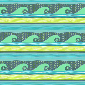 Wave Pattern II-Dark Background