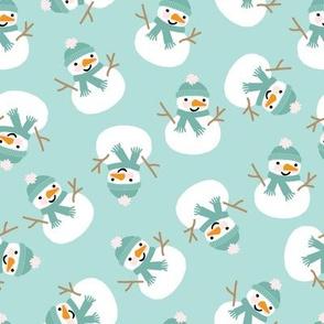 Winter Snowman - Medium Scale 8x8