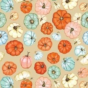 Pumpkin Party, on neutral tan
