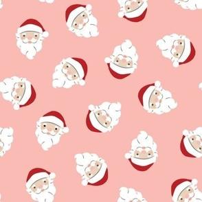Santa Scatter on Pink - Medium Scale 8x8