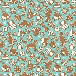 Gingerbread Cookies - Dark Teal Medium Scale 8x8