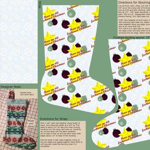 Cut & Sew Old Fashioned Christmas Stocking by Shari Lynn's Stitches