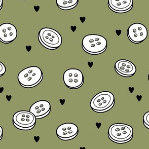 Tiny buttons -on Gray beige background