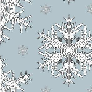 Snowflakes L Seafoam