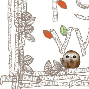 Alphabet Owlet Owls Baby Blanket