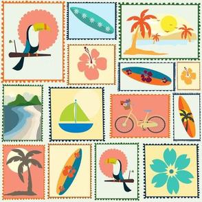Aloha Mailing Stamps
