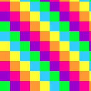 Neon Rainbow Squares