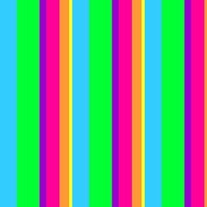 Neon Rainbow Stripe - Varied