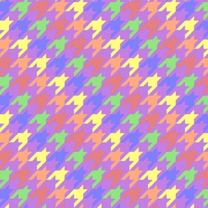 Muted Rainbow Houndstooth