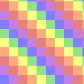 Muted Rainbow Squares