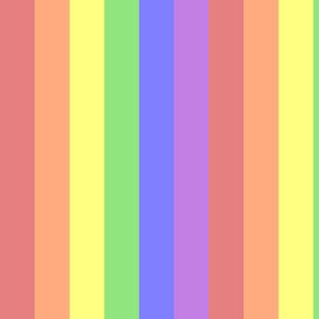 Muted Rainbow Stripes