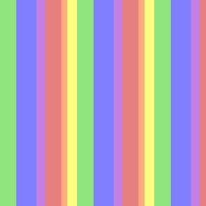 Muted Rainbow Stripes - Varied