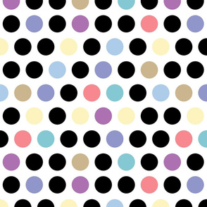 Pastel and Black Dots lg