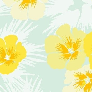 Hibiscus Yellow Floral
