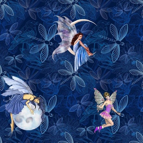 Fairies And Dragonflies