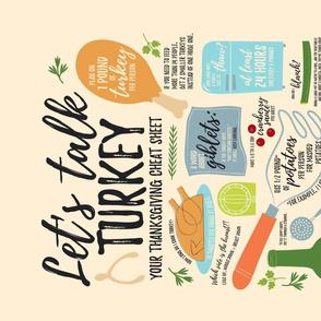 Talking Turkey Thanksgiving Wisdom Tea Towel