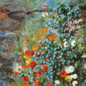 Auguste Renoir tea towel // Jardin de la rue Cortot