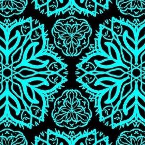 Turquoise & Black Mandala