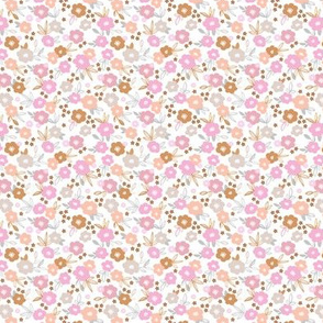 Sweet blossom garden romantic english liberty print flowers nursery white blush pink multi on white SMALL