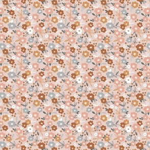 Sweet blossom garden romantic english liberty print flowers nursery white blush neutral beige gray pink SMALL