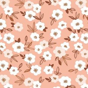 Sweet blossom garden romantic english liberty print flowers nursery soft blush peach apricot