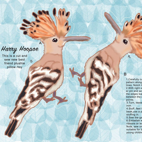 Cut and Sew Plushie Harry Hoopoe