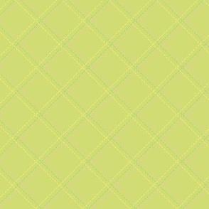 Lime Green faux Stitch