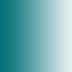 "21"" x  42""  ombre gradient lagoon blue green emerald  007076 to white"