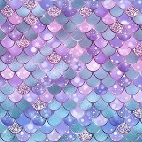 Opal Pastel Mermaid Scales Bokeh- tiny scale