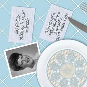 "Mom's Kitchen Wisdom ©Julee Wood - TO PRINT CORRECTLY choose FAT QUARTER in any fabric 54"" or wider"
