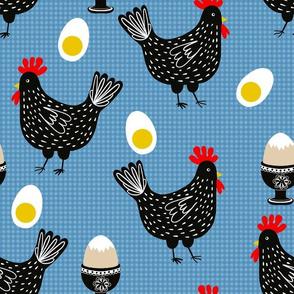 Mrs Chicken and Her Eggs - dark