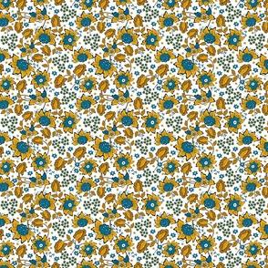 Yellow wildflowers. White background
