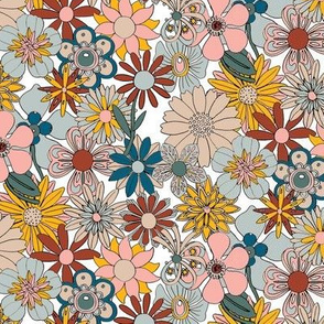 Chelsea* (Fall 2020) || vintage 60s 70s enamel pin brooch flower floral garden pastel sheet illustration autumn  bouquet