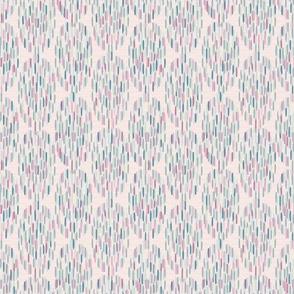 Polar lights. Ovals, light pink, light turquoise, light blue-gray, cream