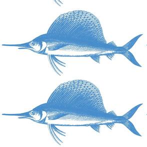 Big Blue Marlin!! (deep sea blue & white)