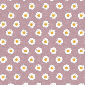(small scale) daisies - happy day daisy flowers - mauve - LAD20BS