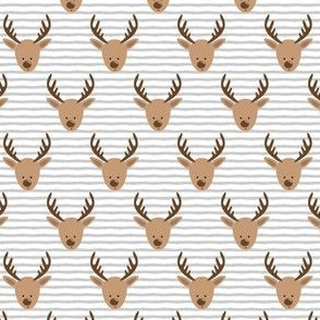 (extra small scale) reindeer - cute christmas reindeer - grey stripes - LAD20BS