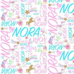 Owl name blanket/Nora